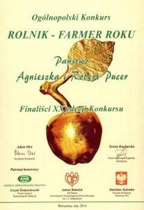 Ogólnopolski Konkurs Rolnik-Farmer Roku :: Gospodarstwo Pasieczne Bartnik Mazurski Robert Pucer